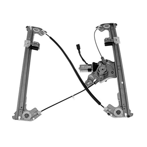 WIN-2X New 1pc Rear Passenger Right Side Power Window Regulator With Motor Assembly Fit 06-08 Lincoln Mark LT 04-08 Ford F150 Crew/Supercrew Cab With 4 Full Size Doors