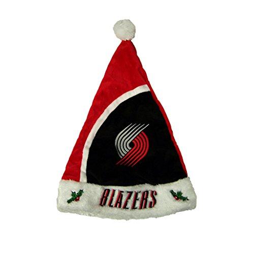 2015 NBA Basketball Team Logo Holiday Plush Basic Santa Hat - Pick Team (Portland Trail Blazers)