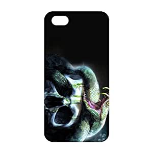 Fortune Scary snake skull 3D Phone Case for iPhone 5s