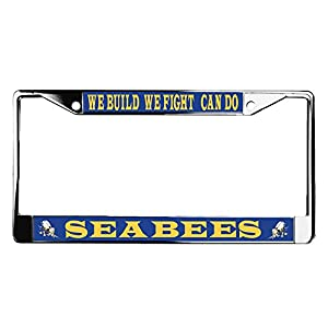 Navy Seabees Can Do License Plate Frame by VetFriends.com