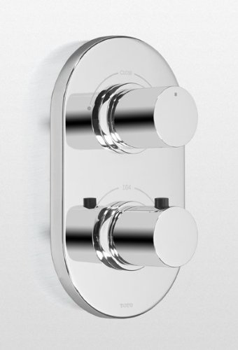 (Toto TS794D#CP Nexus Thermostatic Mixing Valve Trim with Dual Volume Control, Polisehd Chrome )