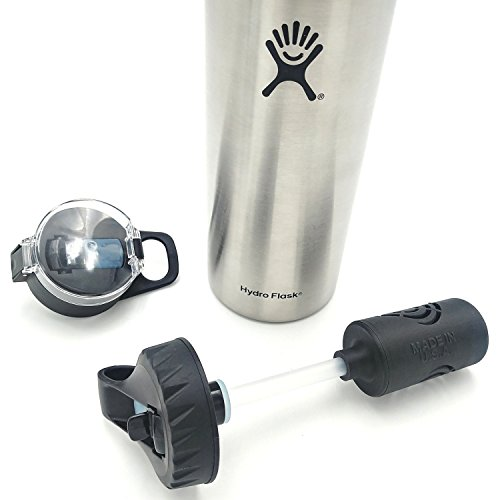The Answer | Hydro Flask Compatible Water Bottle Filter System | Filter Straw Lid Combo for Hydro Flask Bottles | American Made 5 Stage 2 Micron Filter Removes 99.9% of Tap Water Contaminants (40 OZ)