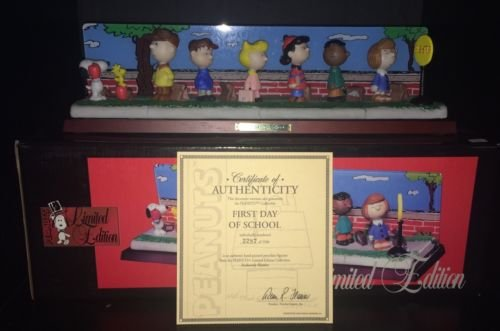 Peanuts First Day of School Porcelain Figurine Limited Edition Flambro Imports