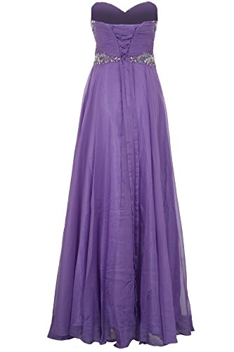 Kleid Lila Fantasia Hochzeit Chiffon Brautjungfer Teilung Trägerlos Elegant Boutique Maxi Schmuck Damen Ball SgwBqCS