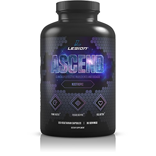 Legion Athletics Ascend Nootropic - All Natural Brain Supplement for Boosting Energy, Focus, & Memory - Banish