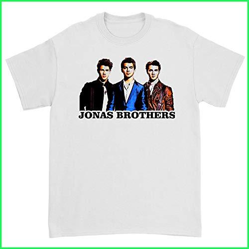 Jonas BrothersTshirt Burnin Up Jonas Brothers A Little Bit Longer Album T-Shirt White