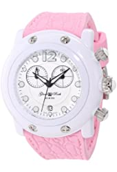 Glam Rock Women's GK1132 Miami Beach Chronograph Pink/White Watch
