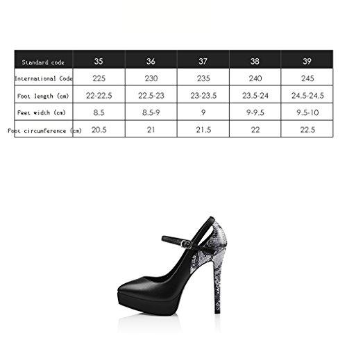 Talon Chaussures Talons des 12 Femmes Haut Unique de Parole Bien de wysm 2cm Chaussure Plate Forme Haute Noir Femmes Boucle Avec wOaxHXq8T