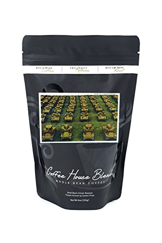 Rows Columns (View of Rows and Columns of Tanks of the US Armored Division (8oz Whole Bean Small Batch Artisan Coffee - Bold & Strong Medium Dark Roast w/Artwork))
