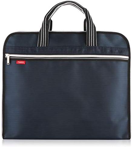 ドキュメントバッグ A4 ジッパーバッグキャンバスハンドバッグ男性のブリーフケース