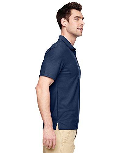 Driver Short Sleeve Pique Shirt (Gildan Mens Double Pique Short Sleeve Sports Polo Shirt (XL) (Navy))