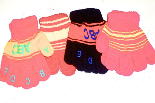 Set of Four Pairs Magic Gloves for Infants and Toddlers Ages 1-4 Years Imported Magic Gloves