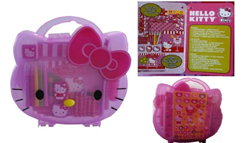 Hello Kitty Face Shape Coloring and Activity Carrying Case