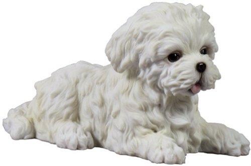 Maltese Puppy Decorative Statue Figurine