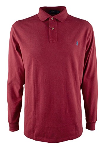 Polo Ralph Lauren Men's Big & Tall Long Sleeve Mesh Polo Shirt-NC-4LT by Polo Ralph Lauren