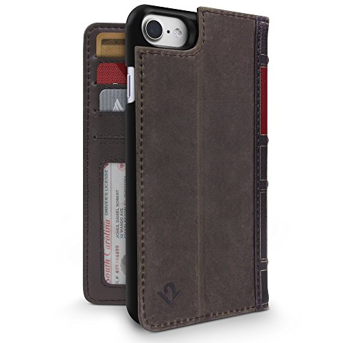 Price comparison product image Twelve South BookBook for iPhone 8/ 7/ 6 | 3-in-1 leather wallet case, display stand and removable shell (brown)