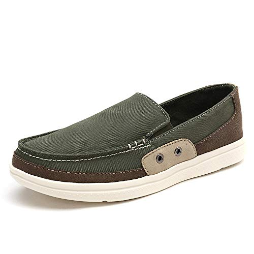 - Beautiful - Fashion Men's Slip On Shoes - Casual Lightweight Canvas Deck Boat Loafers Flat
