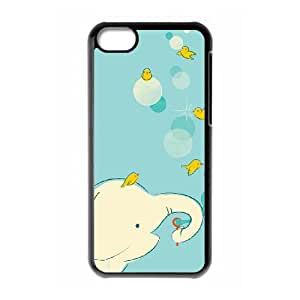 iPhone 5c Cell Phone Case Black Blowing Bubbles LSO7772628