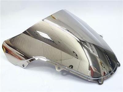 クロームABSオートバイWaveフロントガラスシールド風スクリーンウインドスクリーンfor 2001 – 2003スズキgsxr600 gsxr750 GSXR GSX - R 600 750 2002 01 – 03 B075FJ4HHB