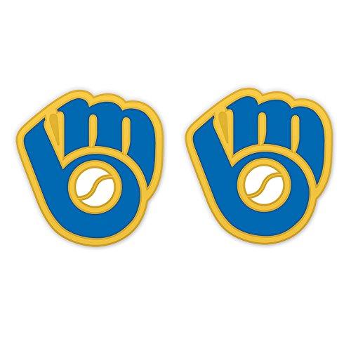 Milwaukee Brewers Retro Glove Logo Post Earrings