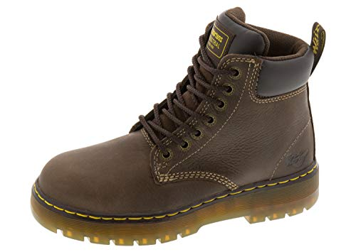 (Dr. Martens Men's Winch 7-Eye Lace-up Steel-Toe Dark Brown Boot, 14 M UK / 15 D(M) US)