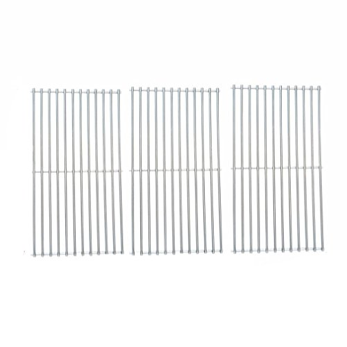 onlyfire BBQ Stainless Steel Cladding Rod Cooking Grates/Cooking Grid Replacement Fit for Master Centro, Charbroil, Sam's Club, Members Mark, Jenn-Air, and Others, Set of 3