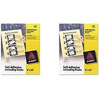 Avery Self-Adhesive Laminating Sheets - Clear - AVE73603, 2 Packs