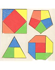 لوحة تعليم الاشكال الهندسية والالوان للاطفال مقاس 18 سم