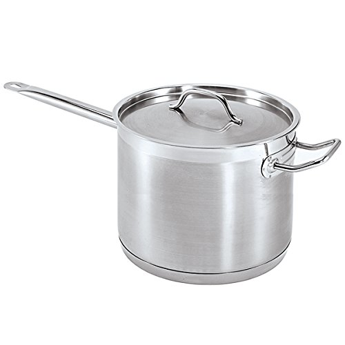 Update International (SSP-10) 10 Qt Induction Ready S/S Sauce Pan w/Cover and Helper Handle