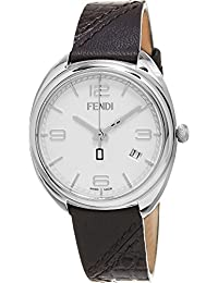 Fendi Women's 'Momento' Swiss Quartz Stainless Steel and Brown Leather Dress Watch (Model: F210034021)
