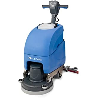 NaceCare TT 1117 Complete Electric Scrubber With 17  Brush and Pad Driver, 11 Gallon Water Capacity, 1.6 HP Vacuum Motor, 120V, 60 HZ