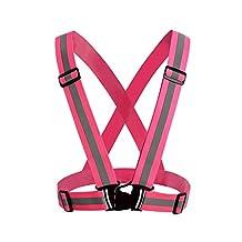 NONMON High Visibility Reflective Safety Vest Running Belt