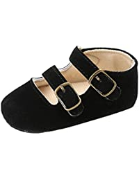 Baby Girls' Crib Moccasins Cute Soft Sole Sneakers Mary Jane Flat Shoes