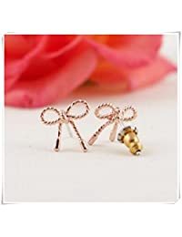 Popular jewelry, stud earrings, cute twist, bow tie
