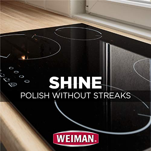 Weiman Cook Top Max Cleaner and Polish - 9 Ounce 2 Pack - Heavy Duty Cooktop Cleaner Removes Burnt On Food Use On Induction Ceramic Gas Portable Electric