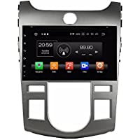 Glyqxa 4GB RAM Octa Core 1 din 9 Android 8.0 Car Radio dvd for Kia Cerato Forte 2008-2012 With GPS WIFI Bluetooth USB DVR Mirror-link