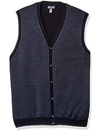 Men's Button Front Sweater Vest,