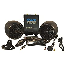 250 Watt 2.1ch All Waterproof Motorcycle Audio System Fm Radio Bluetooth Subwoofer Output (Black)