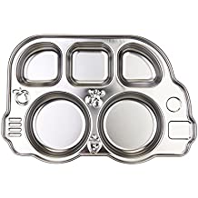 Innobaby Din Din Smart Stainless Divided Platter, Stainless Steel Divided Plate for Babies, Toddlers and Kids. BPA free.