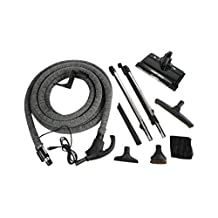 Cen-Tec Systems 99614 Quiet Drive Central Vacuum Electric Brush Kit with 35-Feet Universal Connect 4-Wire Hose