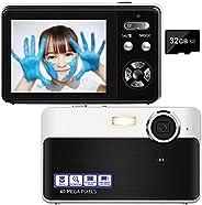 Digital Camera, 40MP 1080P Rechargeable Vlogging Camera with Macro Function, 16X Digital Zoom 2.4 Inch Portabl