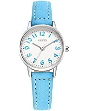 Kids Easy to Read Analog Wrist Watch Girls Quartz Leather Strap Watch