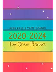 2020-2024 5 Year Planner: Five Years Monthly Calendar Planner (60 Months) For To Do List Journal Notebook | Academic Schedule Agenda Logbook Or Student Teacher Organizer | Business Appointment W/ Holidays | Star Rainbow Line