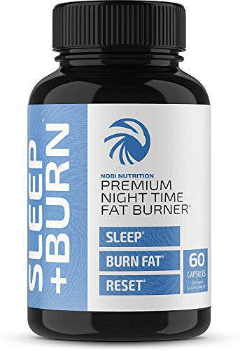 Nobi Nutrition Night Time Fat Burner, Sleep Aid & Appetite Suppressant - Green Coffee Bean Extract PM Weight Loss Pills, Diet Pills, Carb Blocker & Metabolism Booster for Men & Women - 60 Capsules