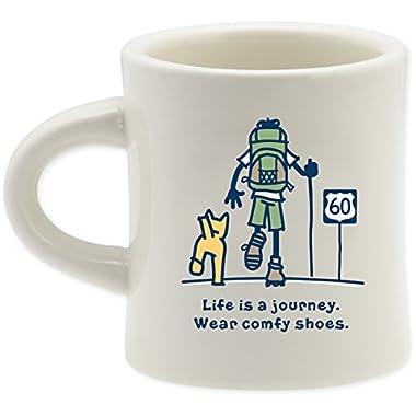 Life Is Good. Good Home Diner Mug - Journey 60 - Simply Ivory