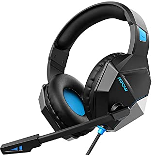 Mpow EG10 Gaming Headset Xbox One Headset PS4 Headset with 3D Surround Sound, Noise Cancelling Mic, 50mm Drivers & LED Light, Compatible with  PC, PS4, Xbox One