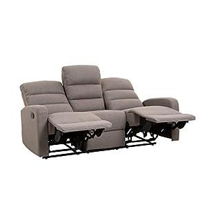 Sofá de 3 plaza con 2 plazas en relax