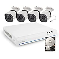 Zmodo ZM-SS78D9D8-4S-5G 8CH 720p Smart PoE NVR Security System with 4 Outdoor IP Cameras & 500GB Hard Drive