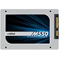 (OLD MODEL) Crucial M550 512GB SATA 2.5 7mm (with 9.5mm adapter) Internal Solid State Drive - CT512M550SSD1