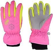 TRIWONDER Kids Ski Snow Gloves Windproof Winter Warm Snowboard Skiing Gloves for Boys & G